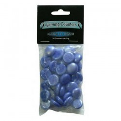 Gaming Counters Marble Blue